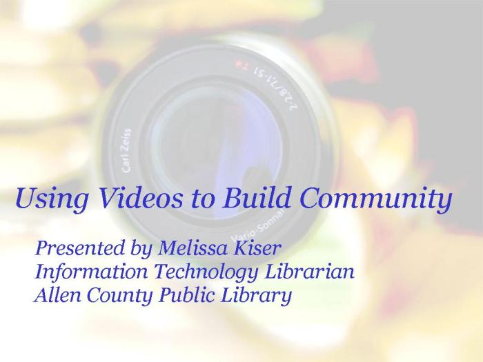 PCNRC Video Workshop