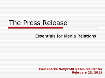 The Press Release.1