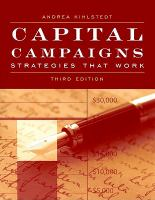 Capital Campaigns Strategies That Work Book Cover