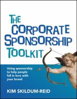 The Corporate Sponsorship Toolkit book cover
