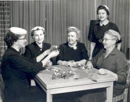 "American Legion Auxiliary Committee for the ""Cupid Capers Ball"" via the Allen County Community Album at Acpl.info"