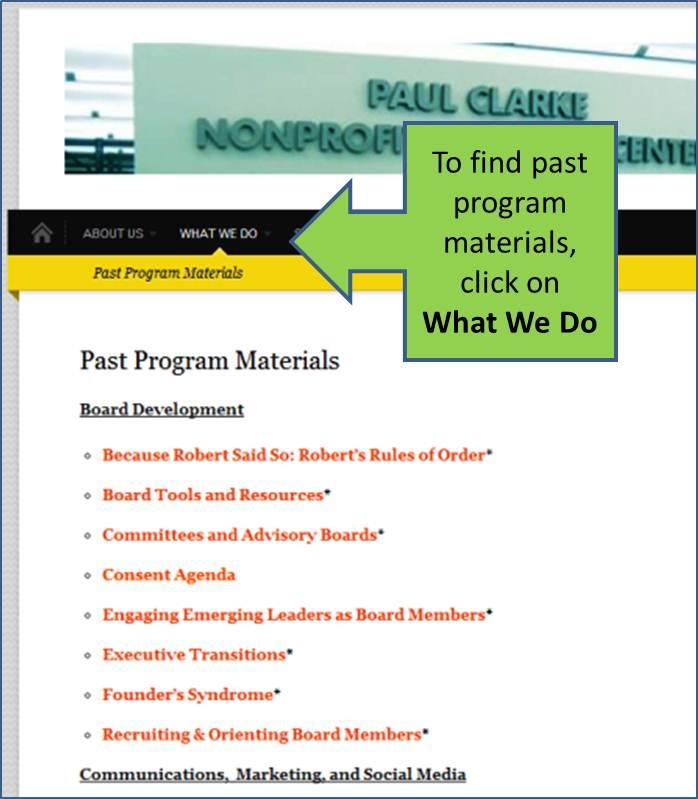 past programs