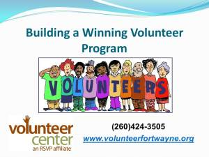 Building a Winning Volunteer Program