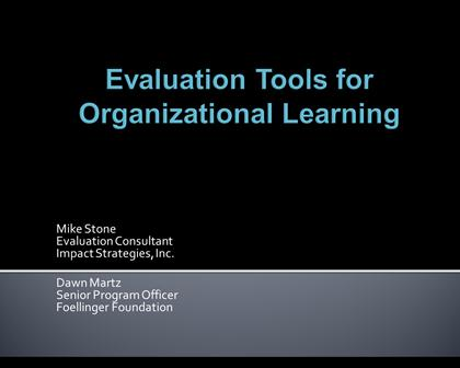 Evaluation as Learning