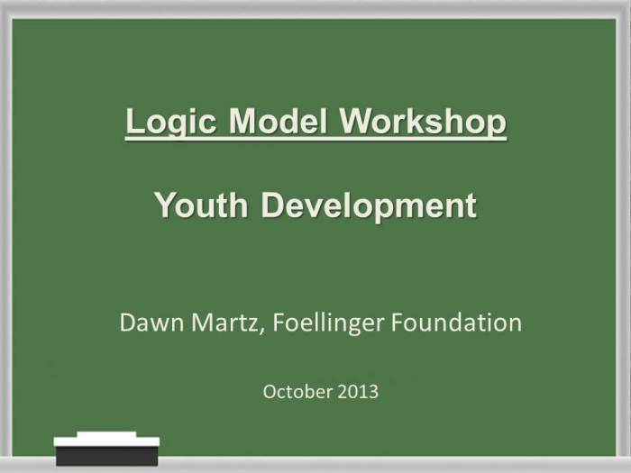 Logic Model Workshop for YD October 2013