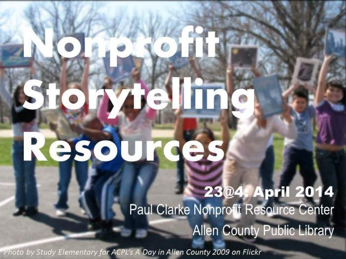 Nonprofit Storytelling Resources