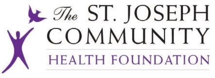 st. joseph community health foundation purple